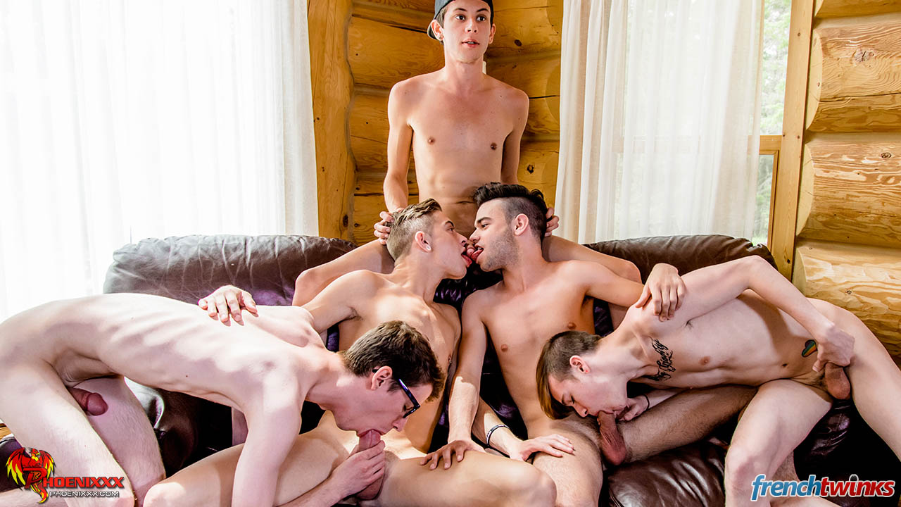 Gay Teen Gang Bang 5