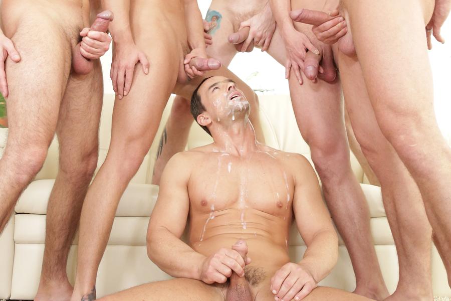 Gay bukkake vod