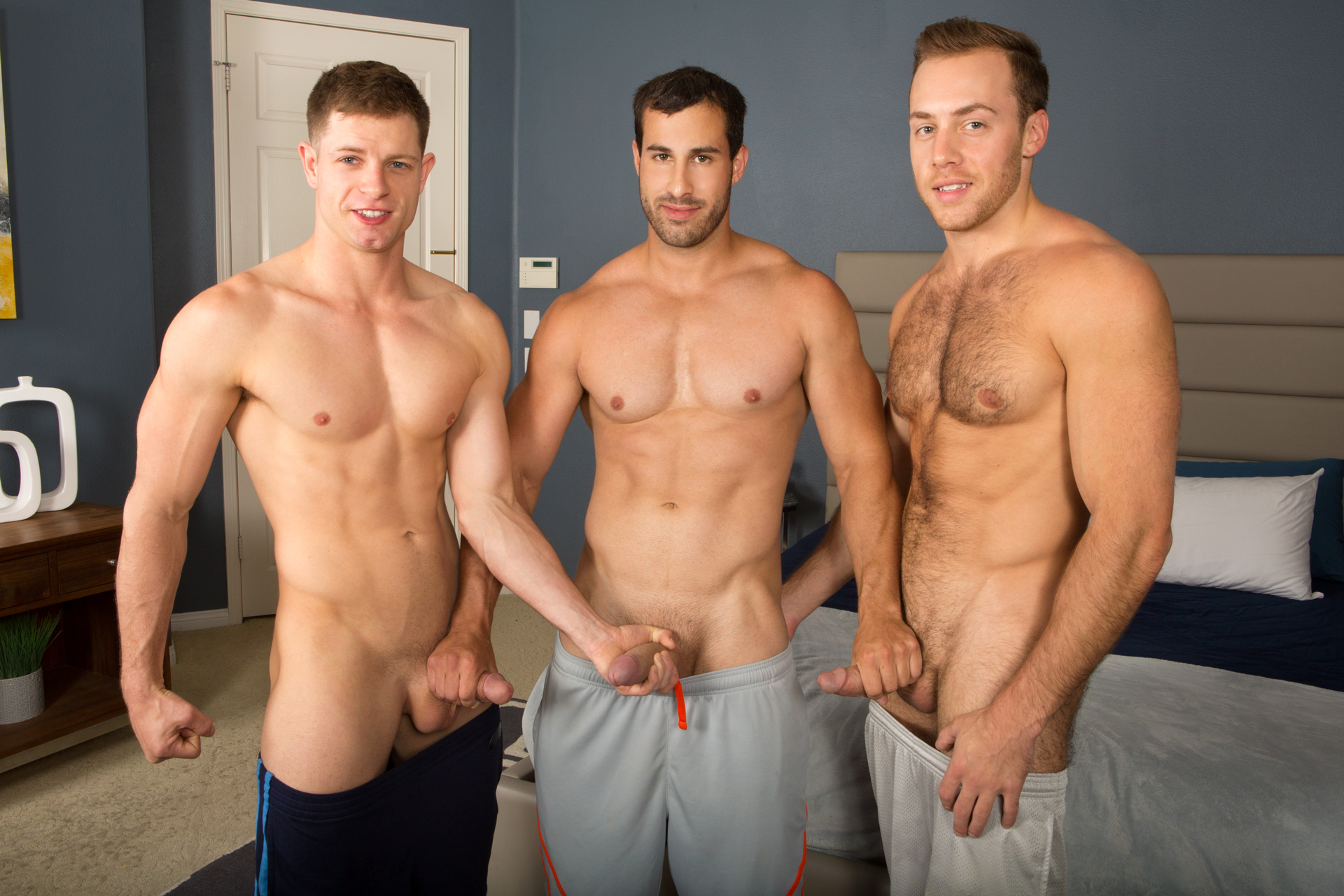 image Group of horny gays fuck ass together