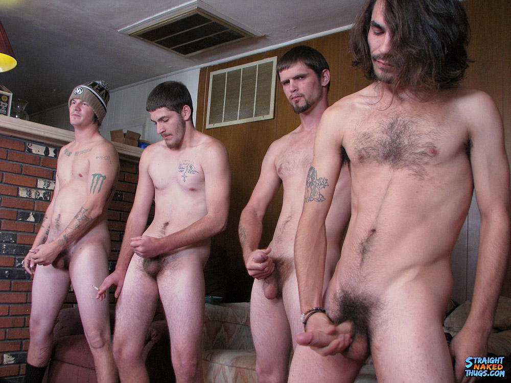 Nude straight groups and gay twink