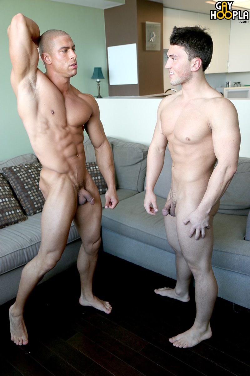 Gay bodybuilder in love fuck